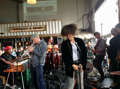 the super funky band at Street Food