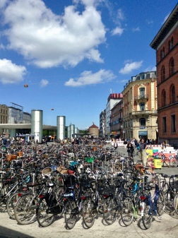 sooo many bikes in Copenhagen. I've redefined what I now call a 'Bike City'