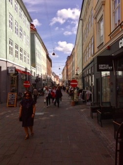 First street that I looked down in the old city of Copenhagen. Blew my mind!