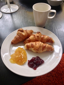 Europeans have a much better respect for the croissant than americans do. I think I ate six of these the first day.