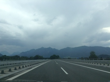 first view of mountains in Europe!