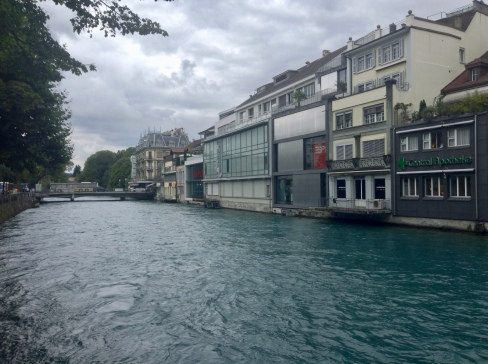 the river flowing through Thun, Switzerland