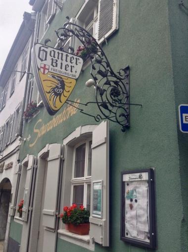 signs for Ganter Bier all over Freiburg!!!