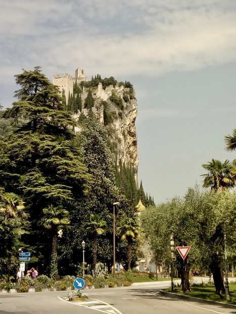 The awesome cliff and castle overlooking the town of Arco