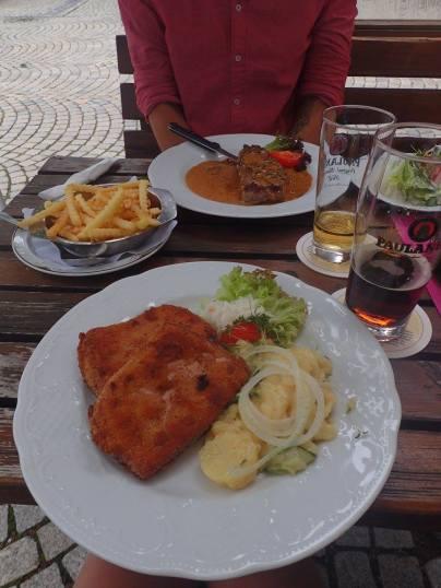 mediocre German food!