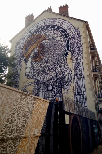 amazing building art in Grenoble