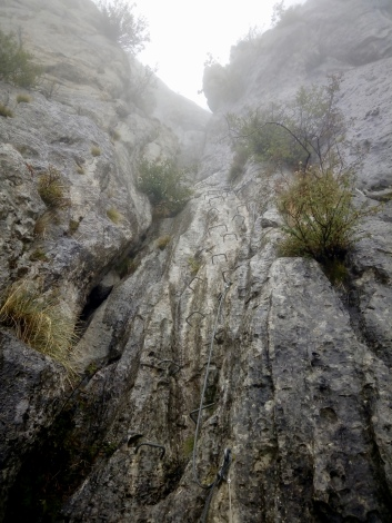 a short via ferrata that brings you up to the top of Céüse