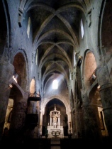 inside the Grasse Cathedral