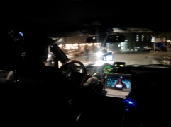 This taxi driver was jamming out to the most ridiculous sing-song video in the front seat. Very entertaining XD