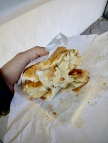 the burek sandwich (cost 50¢)