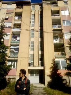 Outside Kristina's grandparents apartment.