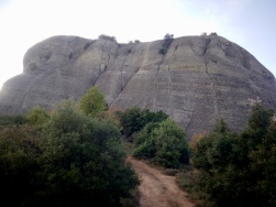 back side of Dubiani; we climbed just left of the Y near the center of the rock